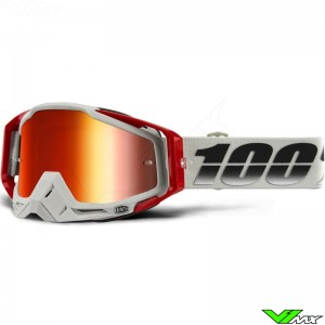 100% Racecraft Motocross Goggle - Suez / Mirror Red Lens