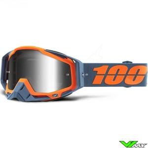 100% Racecraft Crossbril - Kilroy / Mirror Zilver Lens