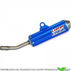 HGS Exhaust Silencer Enduro Blue - KTM 250EXC 300EXC Husqvarna TE250 TE300