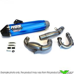HGS Uitlaat Systeem Aluminium Blauw Carbon - KTM 450EXC 500EXC Husqvarna FE450 FE501