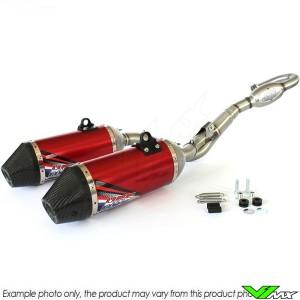 HGS Exhaust System Titanium Red Carbon - Honda CRF250R