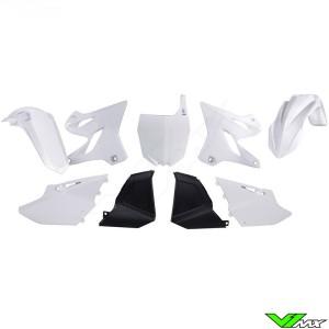 Rtech Plastic Kit White / Black - Yamaha YZ125 YZ250 YZ125X YZ250X