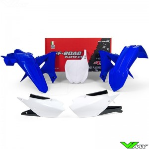Rtech Plastic Kit YZ Blue / White - Yamaha YZF250 YZF450 YZF250X YZF450X