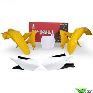 Rtech Plastic Kit Y Yellow / White - Yamaha YZF250 YZF450 YZF250X YZF450X