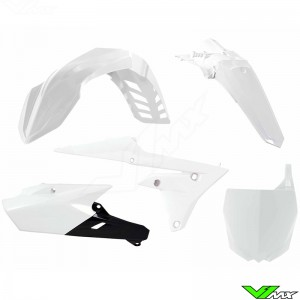 Rtech Plastic Kit White / Black - Yamaha YZF250X YZF450X WR250F WR450F