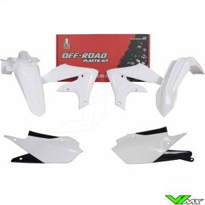 Rtech Plastic Kit White / Black - Yamaha WR250F WR450F