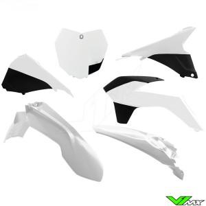 Rtech Plastic Kit White / Black - KTM 125SX 150SX 250SX 250SX-F 350SX-F 450SX-F