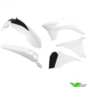 Rtech Plastic Kit White / Black - KTM 125EXC 200EXC 250EXC 300EXC 450EXC 500EXC 250EXC-F 350EXC-F