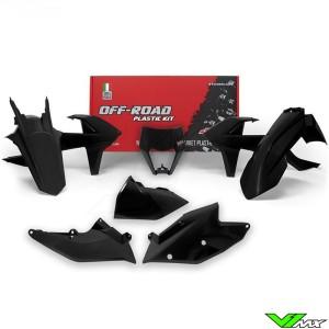 Rtech Plastic Kit Black - KTM 250EXC 300EXC 450EXC 500EXC 250EXC-F 350EXC-F