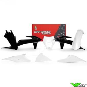 Rtech Plastic Kit White / Black - KTM 150EXC 250EXC 300EXC 450EXC 500EXC 250EXC-F 350EXC-F