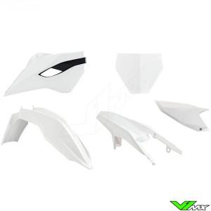 Rtech Plastic Kit White / Black - Husqvarna FC250 FC350 FC450 TC125 TC250