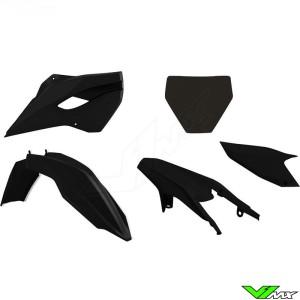 Rtech Plastic Kit Black - Husqvarna FC250 FC350 FC450 TC125 TC250