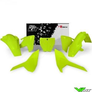 Rtech Plastic Kit Neon Yellow - Husqvarna FC250 FC350 FC450 FX350 FX450 TC125 TC250 TX300