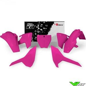 Rtech Plastic Kit Neon Pink - Husqvarna FC250 FC350 FC450 FX350 FX450 TC125 TC250 TX300