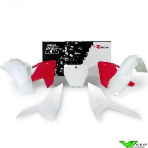 Rtech Plastic Kit HSQ Red / White - Husqvarna FC250 FC350 FC450 FX350 FX450 TC125 TC250 TX300