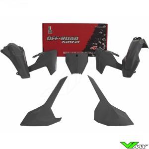 Rtech Plastic Kit Quantum Grey - Husqvarna FC250 FC350 FC450 FX350 FX450 TC125 TC250 TX300
