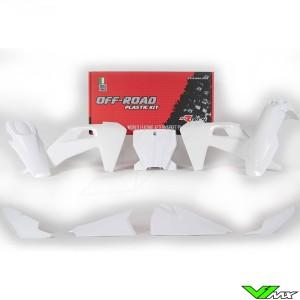 Rtech Plastic Kit White - Husqvarna FC250 FC350 FC450 FC450RockstarEdition FX350 FX450 TC125 TC250 TX300