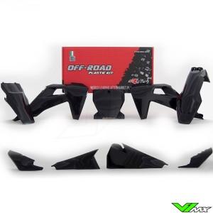 Rtech Plastic Kit Black - Husqvarna FC250 FC350 FC450 FC450RockstarEdition FX350 FX450 TC125 TC250 TX300