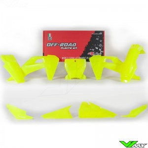 Rtech Plastic Kit Neon Yellow - Husqvarna FC250 FC350 FC450 FC450RockstarEdition FX350 FX450 TC125 TC250 TX300