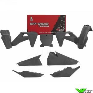 Rtech Plastic Kit Quantum Grey - Husqvarna FC250 FC350 FC450 FC450RockstarEdition FX350 FX450 TC125 TC250 TX300