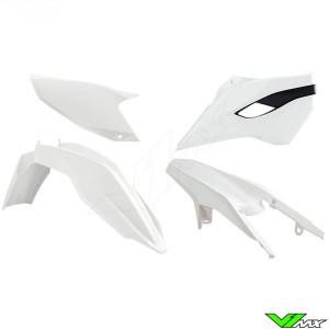 Rtech Plastic Kit White / Black - Husqvarna FE250 FE350 FE450 FE501 TE125 TE250 TE300