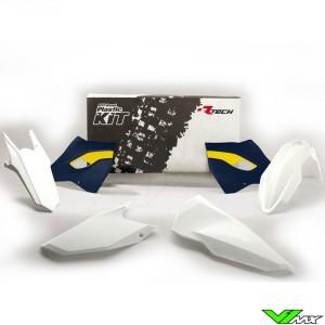 Rtech Plastic Kit White / HSQ Blue - Husqvarna FE250 FE350 FE450 FE501 TE125 TE250 TE300