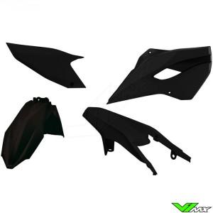 Rtech Plastic Kit Black - Husqvarna FE250 FE350 FE450 FE501 TE125 TE250 TE300