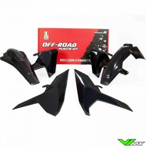 Rtech Plastic Kit Black - Husqvarna FE250 FE350 FE450 FE501 TE150 TE250 TE300 TX125