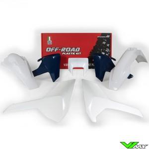 Rtech Plastic Kit White / HSQ Blue - Husqvarna FE250 FE350 FE450 FE501 TE150 TE250 TE300 TX125