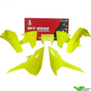 Rtech Plastic Kit Neon Yellow - Husqvarna FE250 FE350 FE450 FE501 TE150 TE250 TE300 TX125
