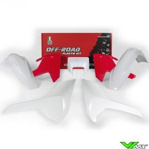 Rtech Plastic Kit HSQ Red / White - Husqvarna FE250 FE350 FE450 FE501 TE150 TE250 TE300 TX125