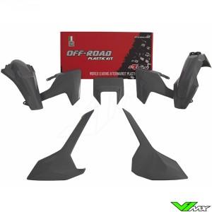 Rtech Plastic Kit Quantum Grey - Husqvarna FE250 FE350 FE450 FE501 TE150 TE250 TE300 TX125