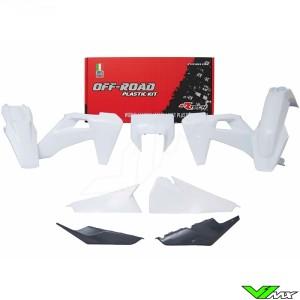 Rtech Plastic Kit White / Anthracite Grey - Husqvarna FE250 FE350 FE450 FE501 TE150 TE250 TE300