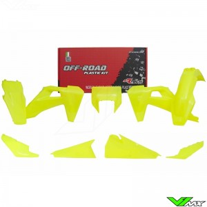 Rtech Plastic Kit Neon Yellow - Husqvarna FE250 FE350 FE450 FE501 TE150 TE250 TE300