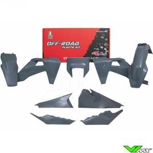 Rtech Plastic Kit Quantum Grey - Husqvarna FE250 FE350 FE450 FE501 TE150 TE250 TE300