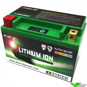 Skyrich LTX14-BS Lithium Ion Battery 12V 4Ah - Suzuki DR650RSE Husqvarna TE410 TE610