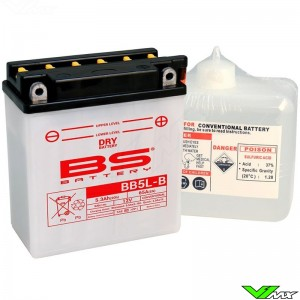 BS Battery BB5L-B Battery 12V 5,3Ah - Suzuki DR650R DR650RS
