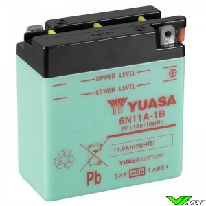 YUASA 6N11A-1B Battery 6V 11,6Ah - Husqvarna WR125