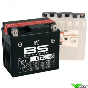 BS Battery BTX5L-BS Accu 12V 4,2Ah - KTM Honda Yamaha Husqvarna Husaberg Sherco