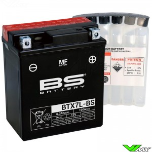 BS Battery BTX7L-BS Battery 12V 6,3Ah - Suzuki DR200 Honda CRF250L XR200