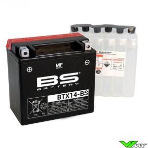 BS Battery BTX14-BS Battery 12V 12Ah - Suzuki DR650RSE Husqvarna TE410 TE610
