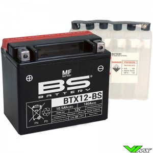 BS Battery BTX12-BS Battery 12V 10,5Ah - Suzuki DR650RE DR650SES