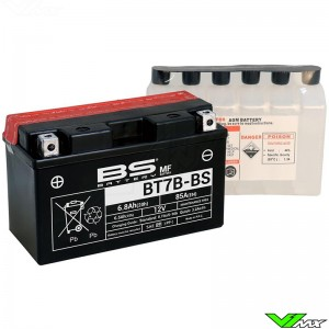 BS Battery BT7B-BS Battery 12V 6,8Ah - Kawasaki KLX400 Suzuki DRZ400 Yamaha TT-R250