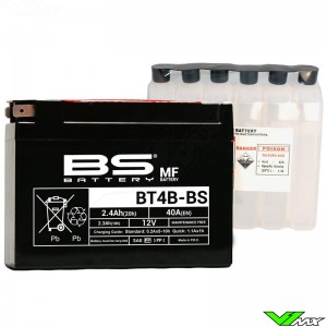 BS Battery BT4B-BS Accu 12V 2,4Ah - Suzuki DRZ70 Yamaha TT-R90