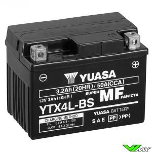 YUASA YTX4L-BS Battery 12V 3,2Ah - KTM Suzuki Honda Yamaha Husqvarna Husaberg