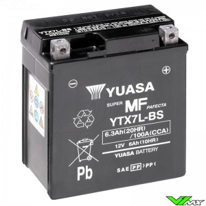 YUASA YTX7L-BS Accu 12V 6,3Ah - Suzuki DR200 Honda CRF250L XR200