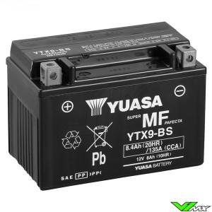 YUASA YTX9-BS Battery 12V 8,4Ah - Kawasaki KLX650R Suzuki DR650SE