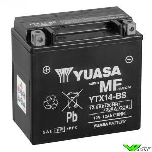 YUASA YTX14-BS Battery 12V 12,6Ah - Suzuki DR650RSE Husqvarna TE410 TE610