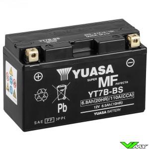 YUASA YT7B-BS Battery 12V 6,8Ah - Kawasaki KLX400 Suzuki DRZ400 Yamaha TT-R250