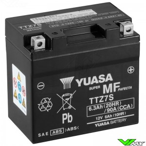 YUASA TTZ7S Battery 12V 6,3Ah - Kawasaki Suzuki Honda Yamaha Husqvarna GasGas Husaberg